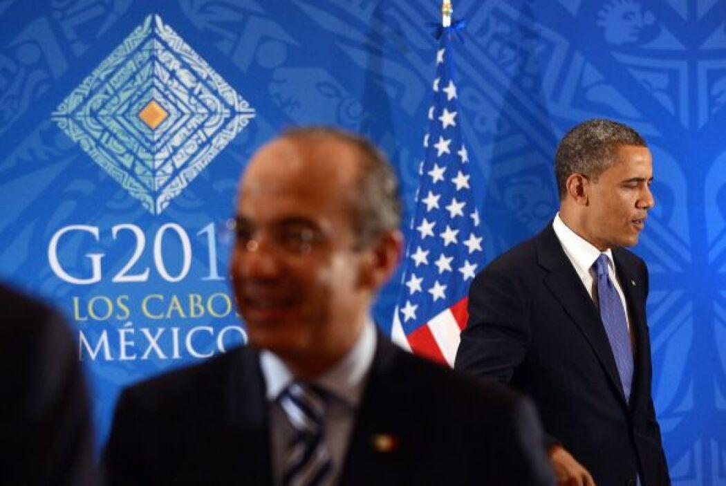 Obama reconoció el esfuerzo de Felipe Calderón para poder realizar esta...