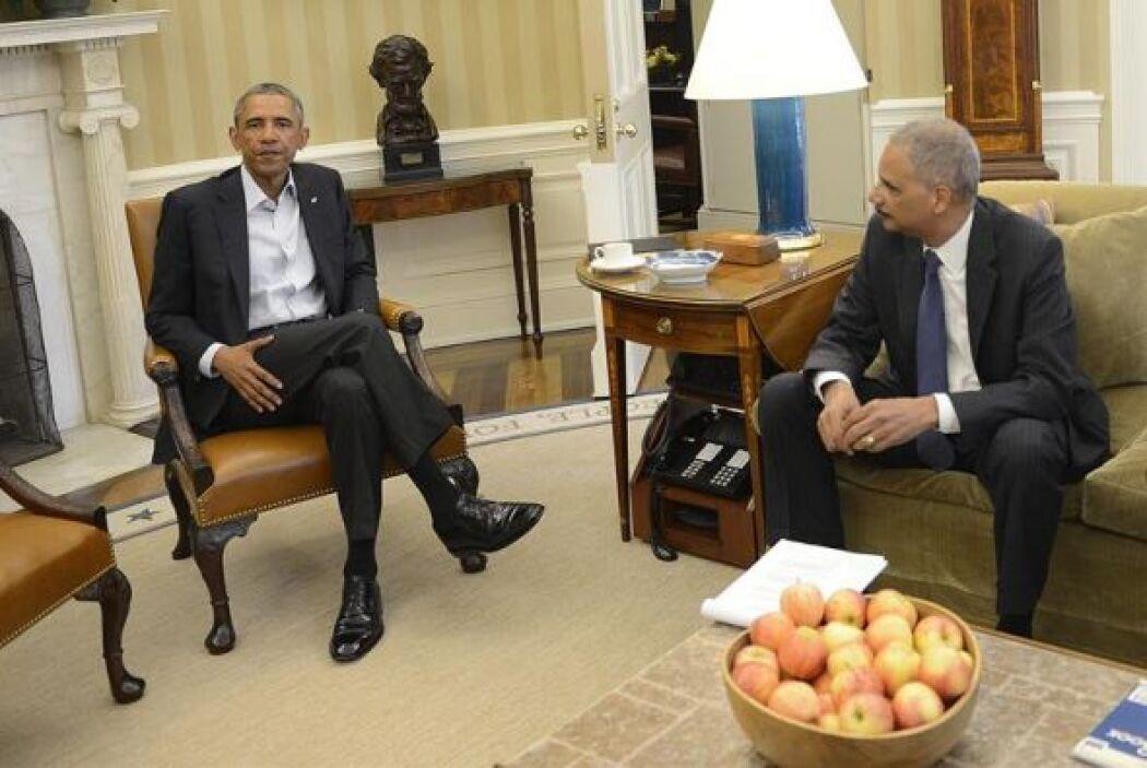 El presidente de Estados Unidos, Barack Obama, se reunió con el fiscal g...