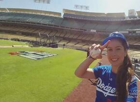Ana Caty visitó a los Dodgers de Los Ángeles