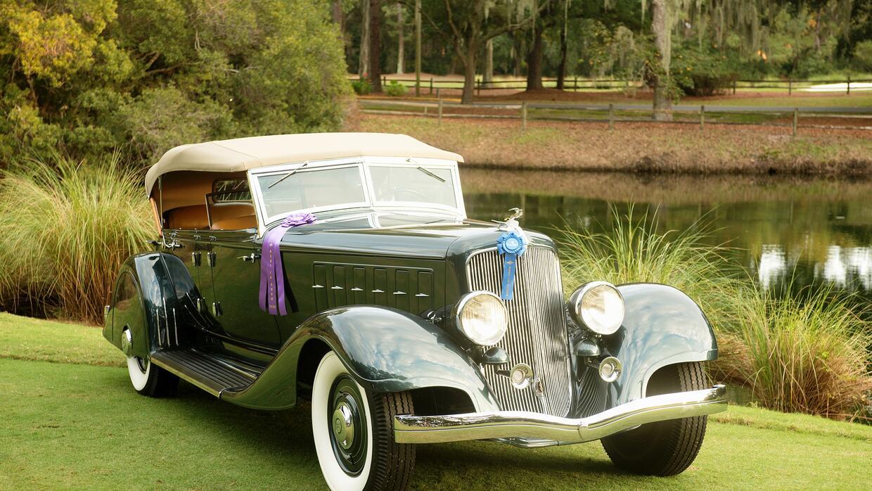 Chrysler Custom Imperial Phaeton 1933 ganador del premio Mejor del Show