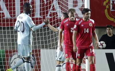 Jugadores de Bélgica felices por el triunfo a pesar del funcionamiento G...