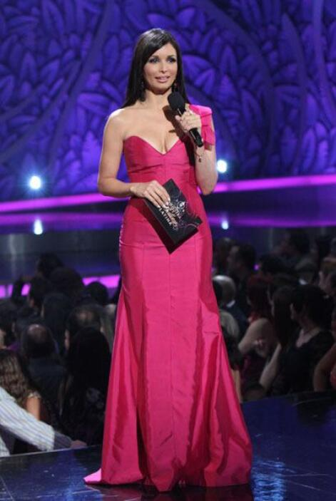 Giselle Blondet preparó para esta final un vestido de la diseñadora Anel...