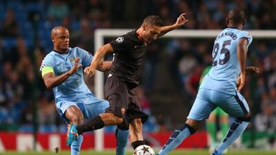 Totti y Agüero anotaron los goles del partido entre Roma y el City.