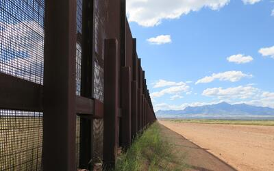 A piece of the border fence near Naco, Arizona.