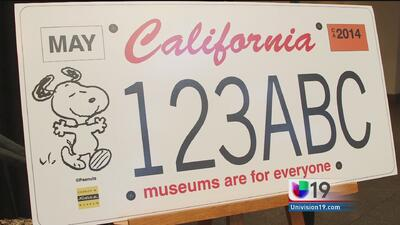Snoopy en las placas de California