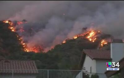 Evacuaciones en Duarte y Azusa siguen en efecto debido a incendio