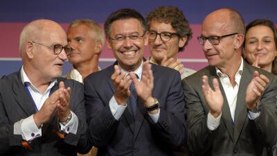 Repetirá como presidente del FC Barcelona al imponerse con claridad.