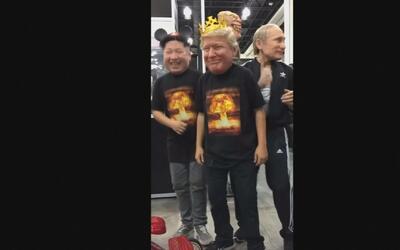 El imposible baile viral entre Donald Trump, Vladimir Putin y Kim Jong-Un
