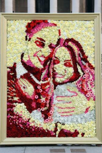 Una florería de la capital de Inglaterra creó este retrato con muchísima...