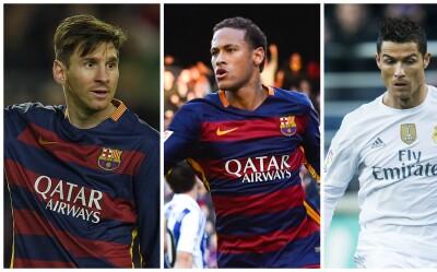 Messi, Neymar y Cristiano optarán por el Balón de Oro 2015