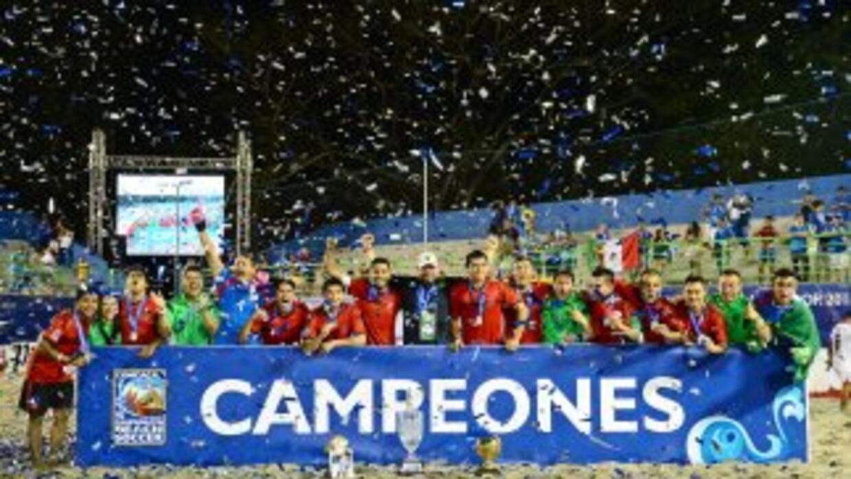 El Tri de playa campeón de la Concacaf 2015.