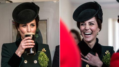 Kate Middleton tomando Guinness