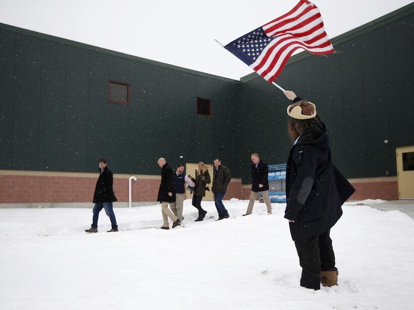 ¿Por quién vota la nieve en las primarias de New Hampshire? seguidor-cru...