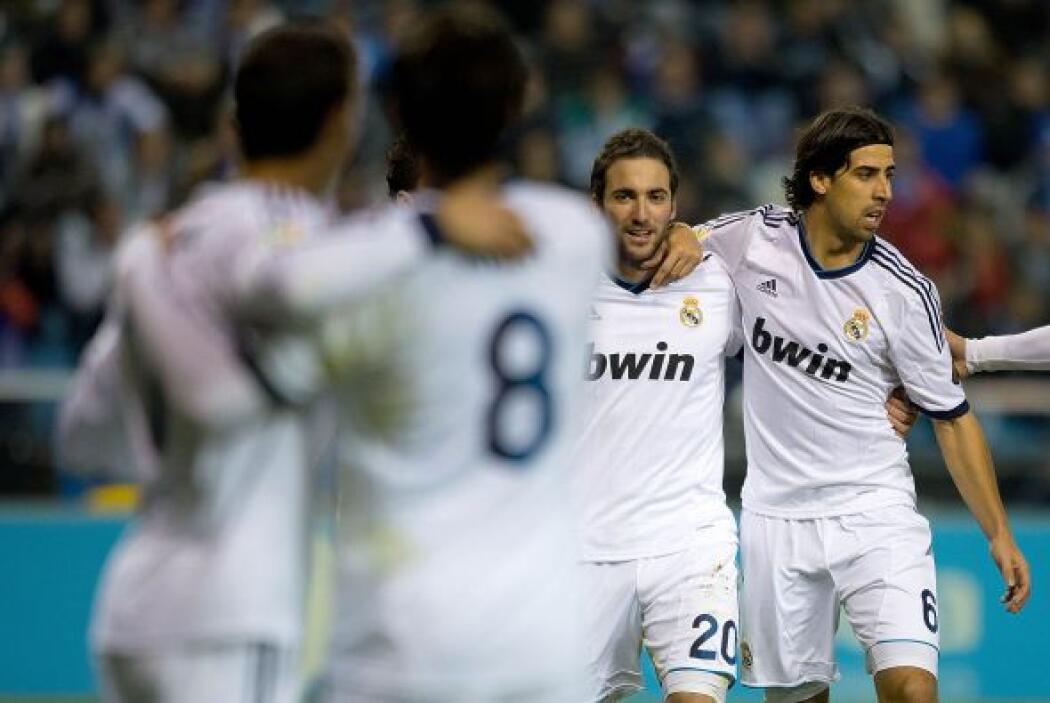 Higuaín terminó empujando a las redes un balón centrado por Cristiano Ro...