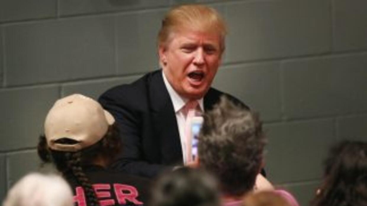 Donald Trump en un evento de campaña en Iowa.