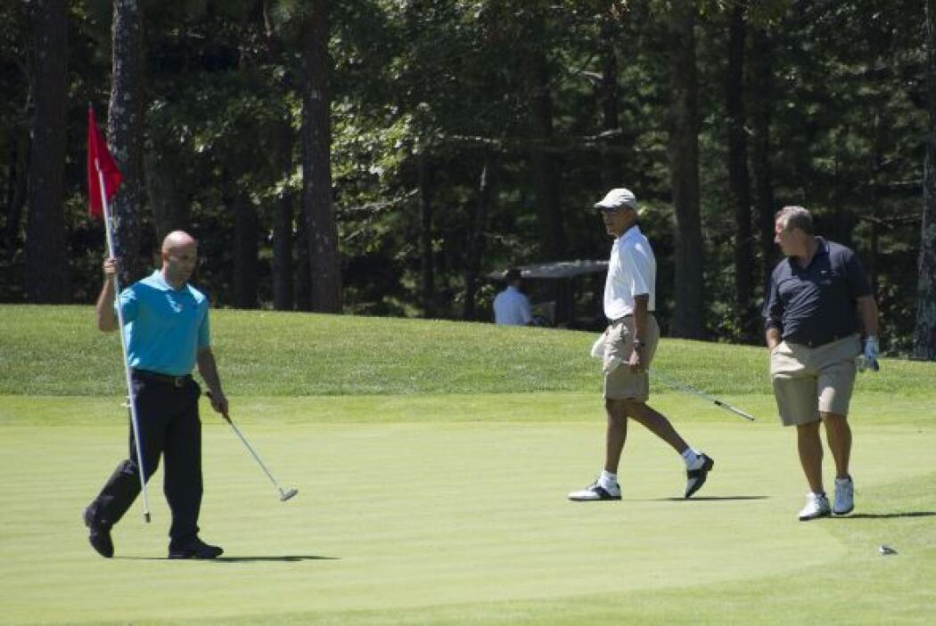 Obama disputó un juego de golf con Robert Wolf y el asesor principal de...