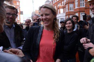 Sarah Harrison, una de las consejeras de Julian Assange.
