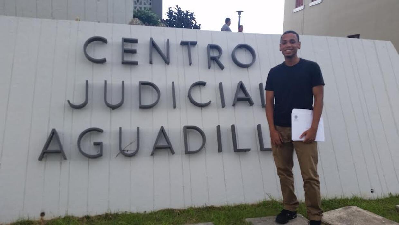 Melvin Villanueva Feliciano, joven que fue hallado no culpable de posesi...
