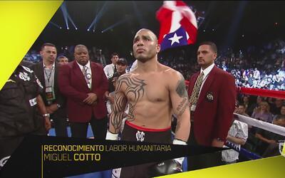 Premios Univision Deportes: Reconocimiento Labor Humanitaria a Miguel Cotto