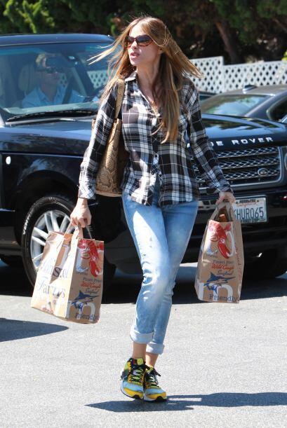 Sofía salió a hacer unas compras al supermercado.