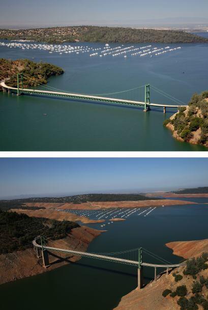 En estas imágenes se puede tomar como referencia el puente para ver el d...