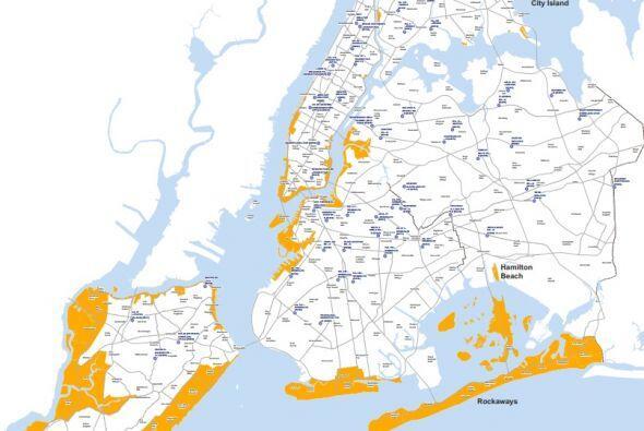 El gobierno de NY presentó un mapa con las zonas de evacuación, que apar...