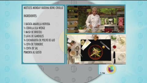 Meatless Monday Buddha bowl criollo