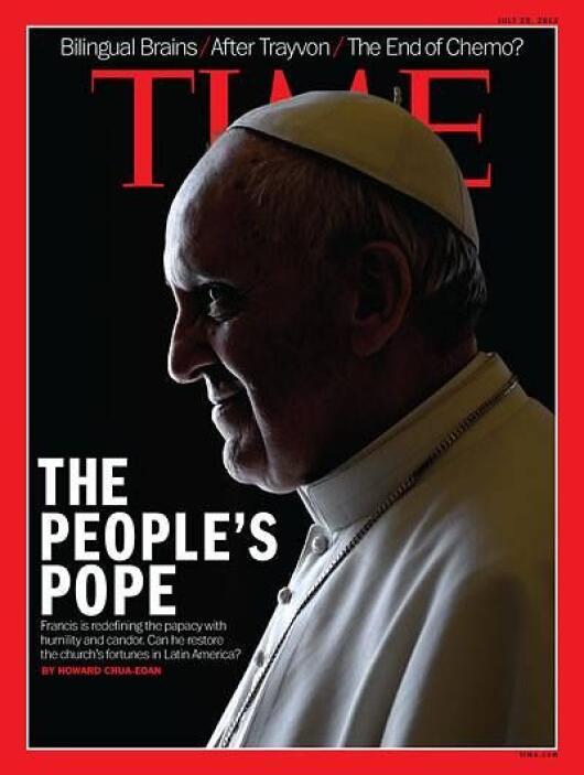 """La revista Time escogió al papa Francisco como la """"Persona del Año"""" por..."""