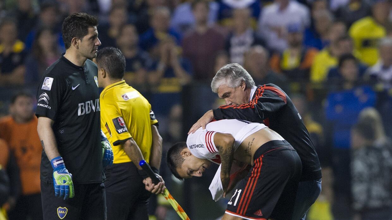 Boca Junios y River Plate jugaban un partido de Copa Libertadores