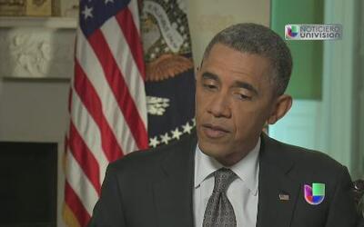 El presidente Barack Obama habló con Univision sobre la reforma migratoria