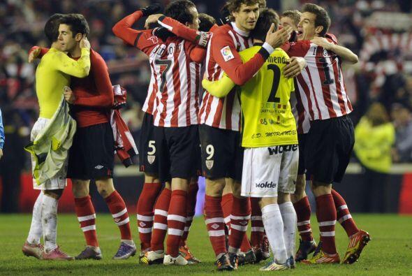 Los jugadores del Athletic mostraron respeto por el Mirandés, que vendió...