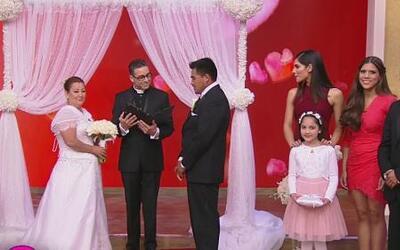 ¡Amor sin barreras! Se casaron Reyna y Santiago a pesar de todo