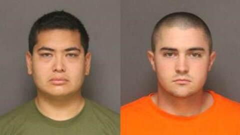 Frank Félix (i) y Josh Acosta (d), acusados del homicidio en Fullerton.