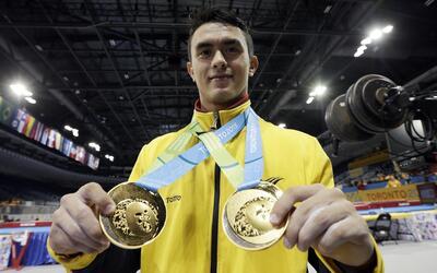 El gimnasta colombiano llegó a Estambul para tomar un vuelo a la ciudad...