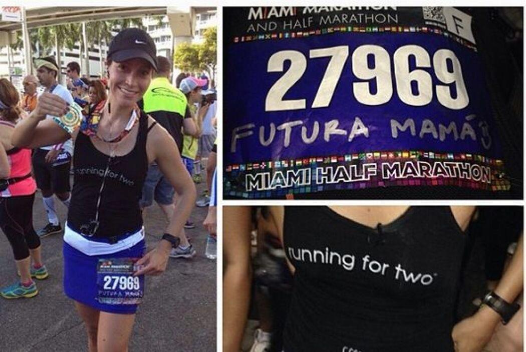"""""""#Gracias #Dios por permitirnos cruzar la meta del Medio Maratón de #Mia..."""