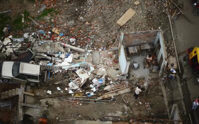 El terremoto dejó a miles sin techo.