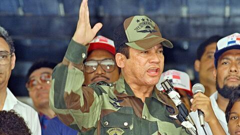 Sus métodos brutales para aplastar la democracia en Panamá, junto con su...