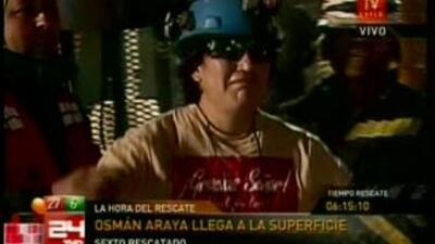 Osman Arayá fue el sexto minero en ser rescatado.
