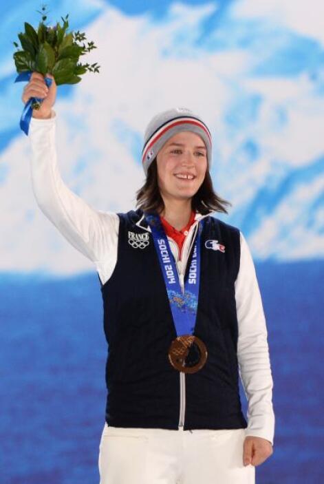 La francesa Coline Mattel ganó bronce en la prueba de salto con esquí en...