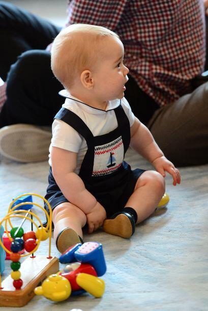 Aunque todos rondan los ocho meses, George era más alto y corpulento que...