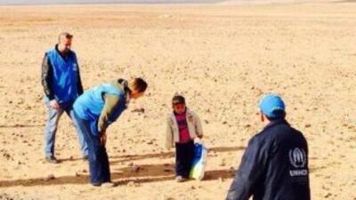 Marwan, de cuatro años, fue encontrado solo en el desierto. Foto tomada...
