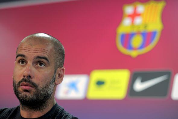 Guardiola tuvo que acudir a la conferencia de prensa.
