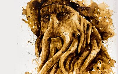 Arte hecho con café