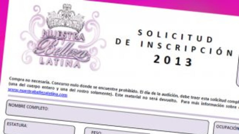 Baja tu formulario de inscripción para las Audiciones 2013.