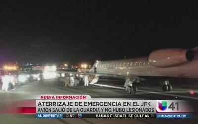 Avión salió de JFK y aterrizó de emergencia en La Guardia