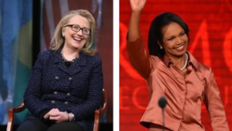 Hillary Clinton y Condoleezza Rice, favoritas para la presidencia 2016,...