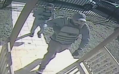 En video quedaron registrados los sospechoso de un robo en una residenci...