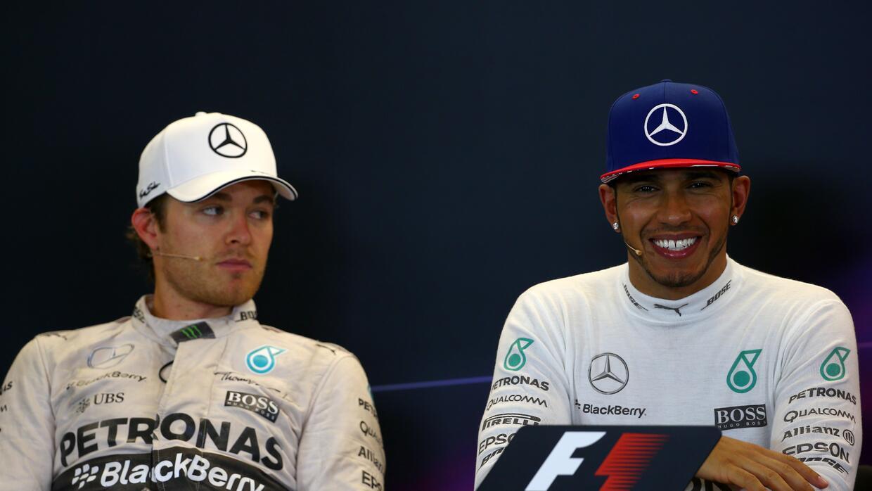 Los pilotos después de la carrera de Austin