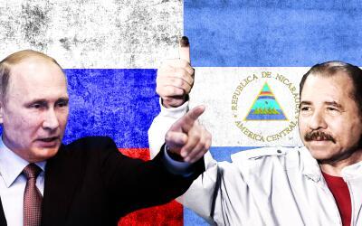 Los presidentes de Rusia y Nicaragua, Vladimir Putin y Daniel Ortega.