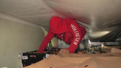 Indocumentado en la cabina de refrigeración de un camión